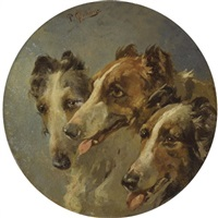 three hounds by rudolfowitsch frenz