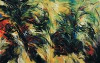 mengkuang titi (siri hijau) (diptych) by yusof ghani
