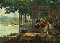 sommerliche gaststätte (im garten zu rhens am rhein) by otto antoine