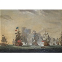 the battle of lagos bay, 18th august by s. biggs