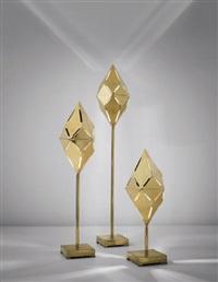 set of three kaleidoscope floor lamps by gabriella crespi