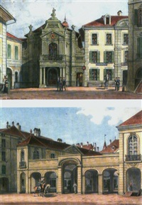 der erlacherhof in bern (+ das alte historische museum in bern; pair) by adolf methfessel
