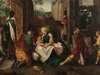 the adoration of the magi by lucas van leyden