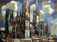 la cathedrale de rouen by gaston alexandre