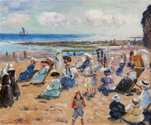 afternoon on the beach by william samuel horton