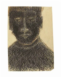 untitled (portrait of a boy) by rabindranath tagore