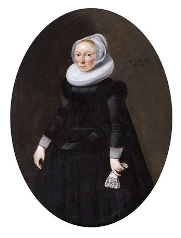 portrait dune dame âgée de 45 ans by dirck dircksz van santvoort