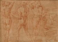four male figure studies by andrea boscoli