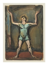 jongleur (from cirque) by georges rouault