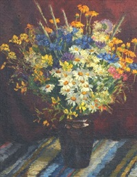 still life with meadow flowers by eduard brencen