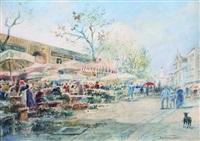 marché aux fleurs sur le cours saleya, nice by alberto vianelli
