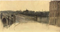 untitled (study for the background of found) by henry treffry dunn