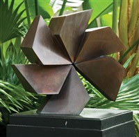 bronze fan (+ model; 2 works) by arthur silverman