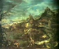 paesaggio invernale by giovanni (giambattista) peruzzini