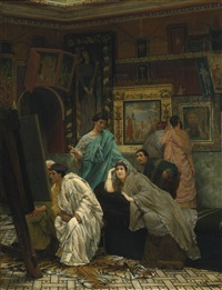 the collector of pictures at the time of augustus by sir lawrence alma-tadema
