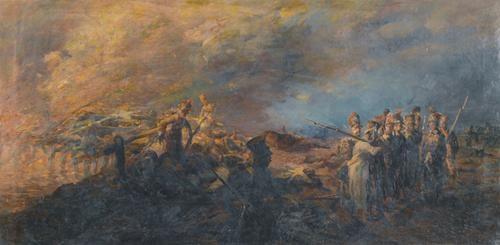 les suisses au pont de polotsk by louis dunki