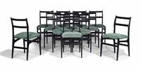 leggera chairs (set of 12) by gio ponti