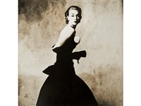 woman with handkerchief (jean patchett) by irving penn