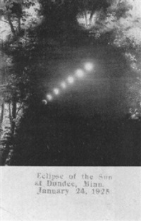 eclipse of the sun at dundee, minnesota, january 24, 1925 by ernest cords