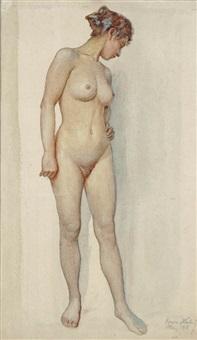 standing nude by erwin hubert