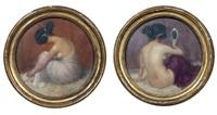 nus féminins assis (study; pair) by emmanuel fougerat