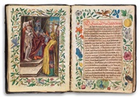 manuscript prayer book with hand-colored engravings by german school (16)