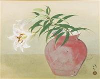 flower in vase by ryushi kawabata