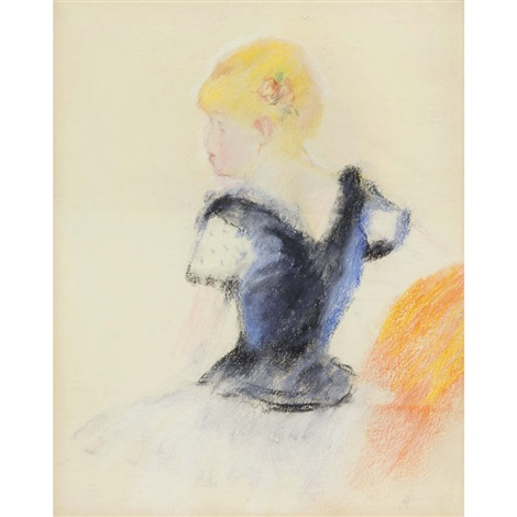 jeune fille blonde by pierre auguste renoir