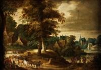 paisaje con campesinos by flemish school (17)