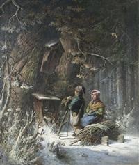 im winterlichen wald by eduard freudenberg