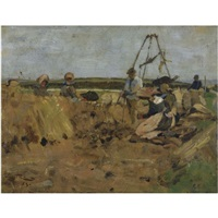 the potato pickers, thornton loch by james guthrie