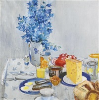 breakfast by yuri (georgiy) ivanovich pimenov