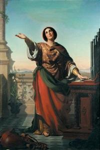 sainte cécile by rudolf w. a. lehmann