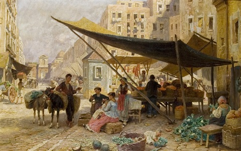 market in naples by franz theodor aerni