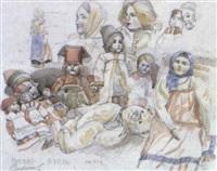 etude de poupées russes by sergei smirnov