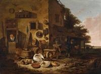 canards devant une taverne by egbert lievensz van der poel