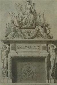 a chimneypiece by jean le pautre
