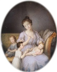 mother and children by frederik christian camradt