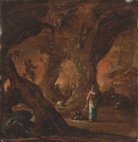 a sorceress in a wood surrounded by devils by jan jansz buesem