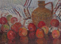 still life with apples by traian goga