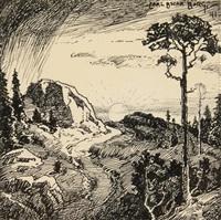 sunrise in the mountains by carl oscar borg