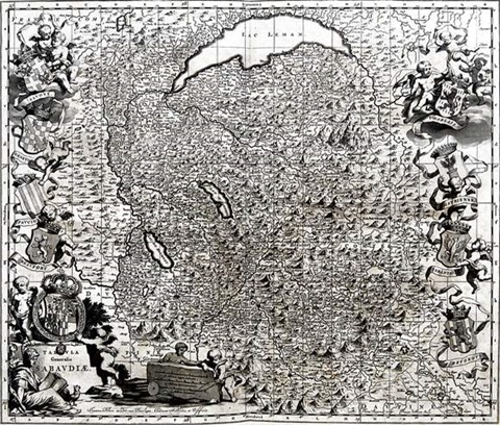 tabula generalis sabaudiae from theatrum statuum regiae celestudinis sabaudiae ducis by johannes de broen