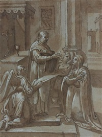 sainte recevant la communion by avanzino nucci