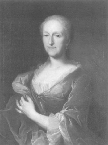 halbfigurenporträt einer dame by johann rudolf daelliker