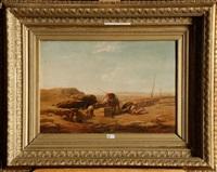 la halte de la caravane au puits by jacob jacobs