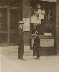 group of 9 photographs, comprising 3 of child laborers, and 6 of immigrant home workers in new york city (9 works) by lewis wickes hine