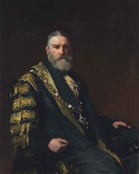 portrait of sir robert nicholas fowler, 1st bt. (1828-1891) by francis montague (frank) holl