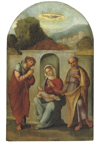 the madonna and child with saints james and peter by benvenuto tisi da garofalo