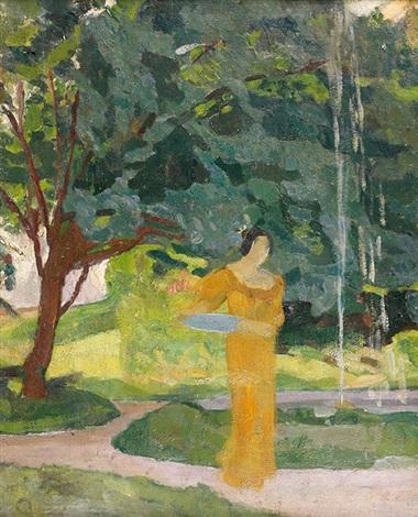 femme dans un paysage by roger de la fresnaye