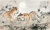 中秋晓月 by meng xiangshun